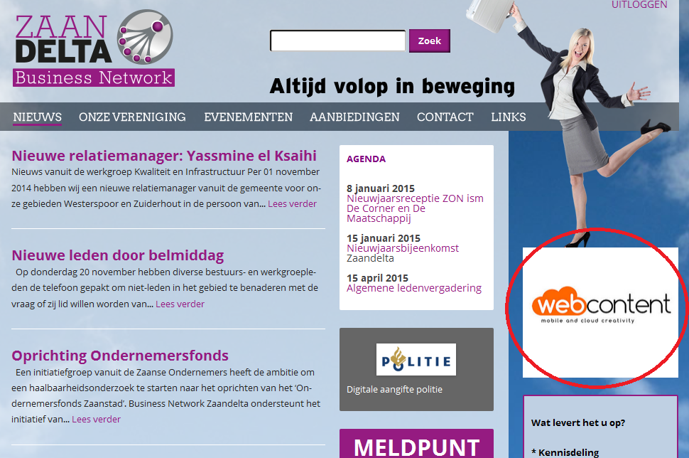 adverteren homepage